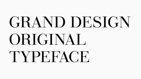 GRAND DESIGN ORIGINAL FONT